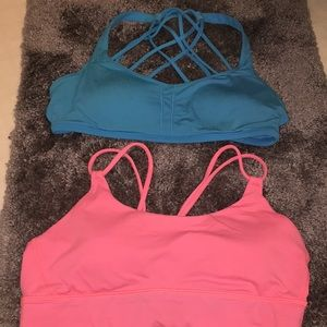 Two lululemon bras size eight